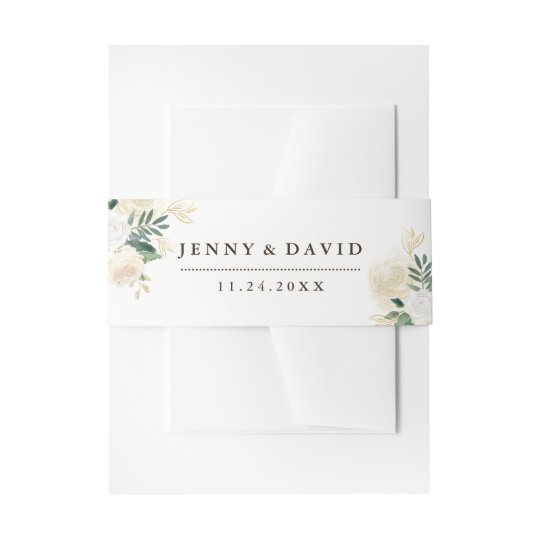 Romantic Woodland Belly Bands Invitation Belly Band