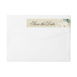 Romantic Woodland Wedding RSVP Wraparound Label