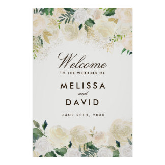 Romantic Woodland Wedding Welcome Sign (24x36)