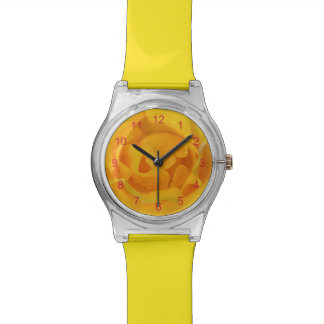Romantic Yellow Rose Water Drops Watch