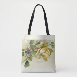 Romantic Yellow Vintage Roses Tote Bag