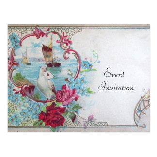 ROMANTICA Invitation postcard