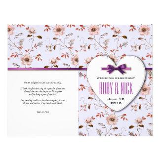RomanticCharm Vintage Floral Wedding collection 21.5 Cm X 28 Cm Flyer