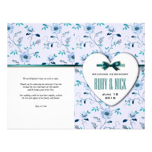 RomanticCharm Vintage Floral Wedding Collection Flyer Design