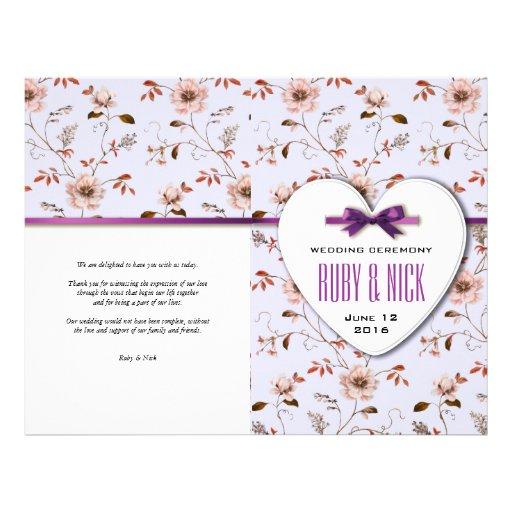 RomanticCharm Vintage Floral Wedding Collection Personalized Flyer