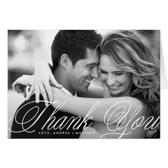 Romatic Script Wedding Thank You Card