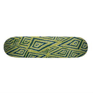 Romboidal verde. Skateboard