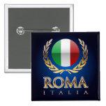 Rome 15 Cm Square Badge