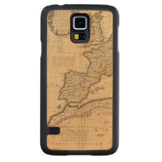 Rome and Eastern Hemisphere Carved Maple Galaxy S5 Case