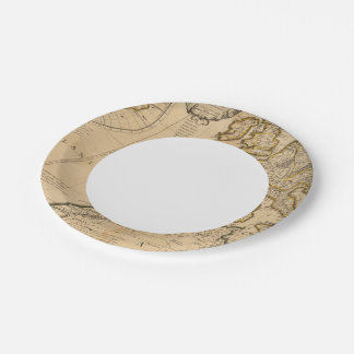 Rome and Eastern Hemisphere Paper Plate