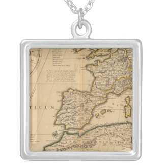 Rome and Eastern Hemisphere Silver Plated Necklace
