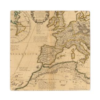 Rome and Eastern Hemisphere Wood Coaster