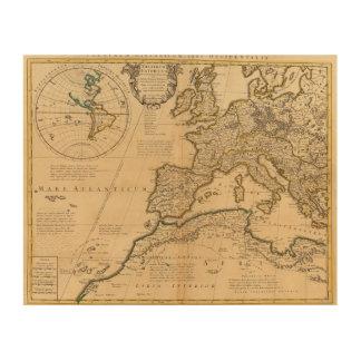 Rome and Eastern Hemisphere Wood Wall Decor