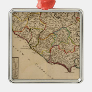 Rome and Italy Silver-Colored Square Decoration