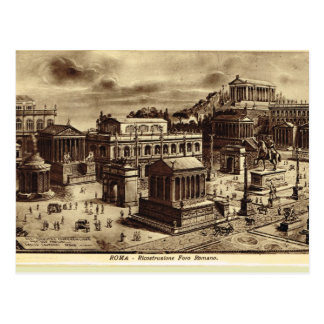 Rome, Artist's Impression of Roman Forum Post Card