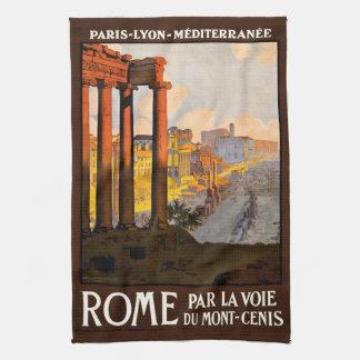 Rome at Dawn Par La Voie Travel Poster 1920 Kitchen Towel