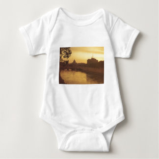 Rome at sunset, River Tiber and St Peter's Baby Bodysuit