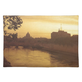 Rome at sunset, River Tiber and St Peter's Placemat