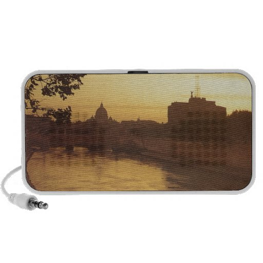 Rome at sunset, River Tiber and St Peter's iPod Speaker