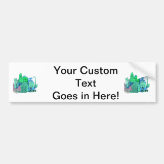 rome blue graphic travel image.png bumper sticker