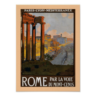 Rome by the Mont Cenis Express Poster