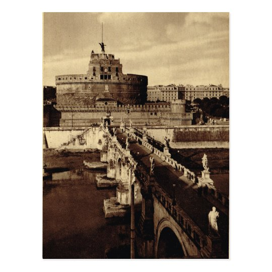 Rome, Castello Santa Angelo Postcard