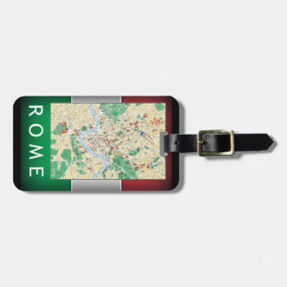 Rome City Map Luggage Tag