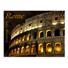 Rome - Coliseum at night Postcard