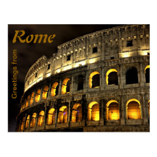 Rome - Coliseum at night Postcard