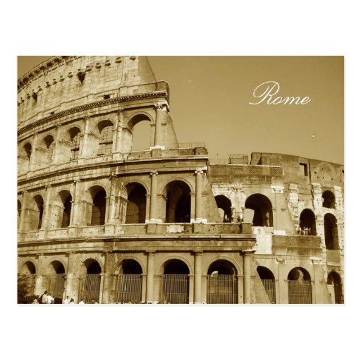 Rome Coliseum Close Up Post Card