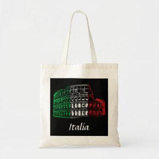 Rome Coliseum Italian Flag Bag