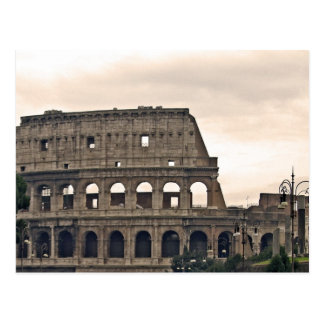 rome, colosseo postcard