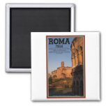 Rome - Colosseum and Temple of Venus Square Magnet