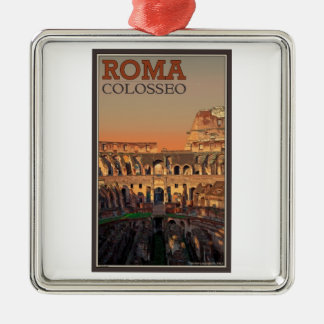 Rome - Colosseum and the Moon Christmas Ornament