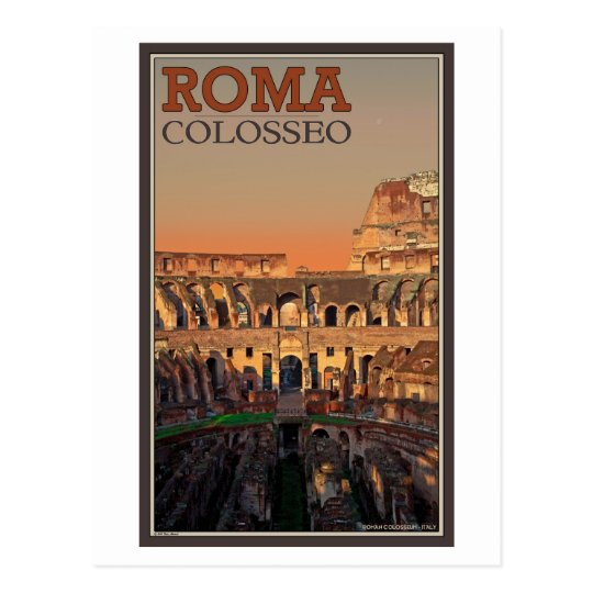 Rome - Colosseum and the Moon Postcard