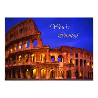Rome Colosseum at Night  You're Invited 13 Cm X 18 Cm Invitation Card