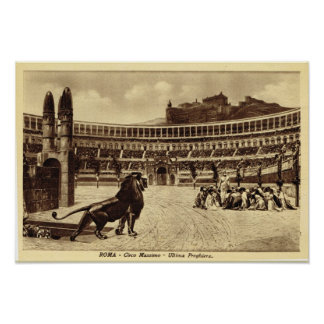 Rome Colosseum, Christians and lions Poster
