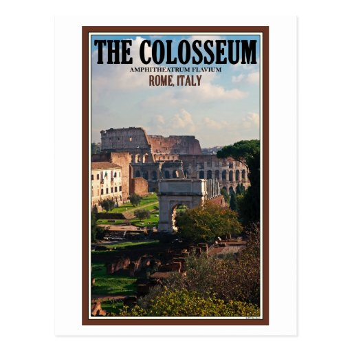 Rome - Colosseum from the Forum Postcards