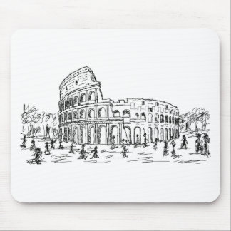 rome colosseum mouse pads
