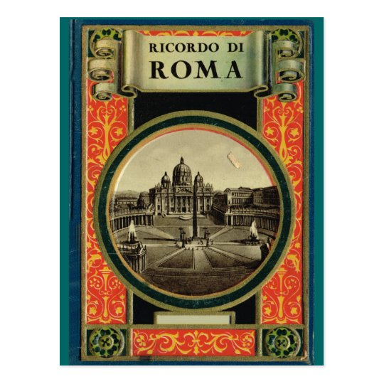 Rome, decorated frame postcard