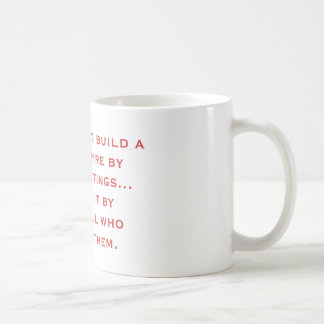 Rome did not build a great empire by having mee... basic white mug