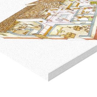 Rome. Domus Canvas Print