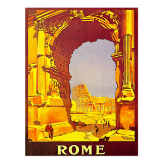 Rome Express Railway Vintage Italy Travel Postcard