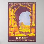 Rome Express Vintage Travel Poster