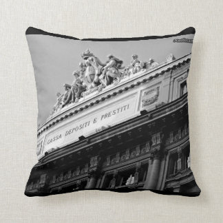 Rome forever! Black and White! Cushion