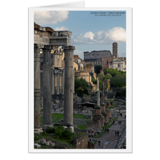 Rome - Forum Colosseum View Card