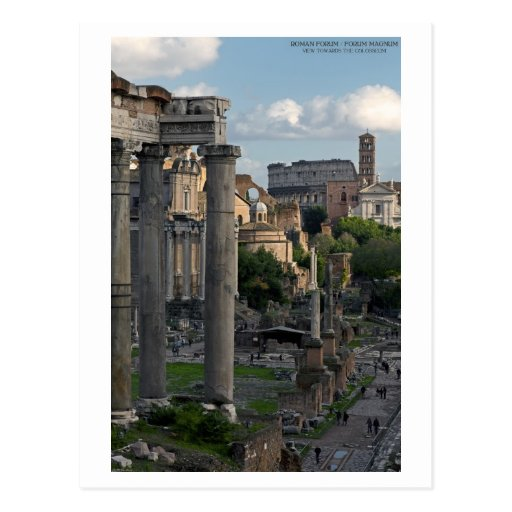 Rome - Forum Colosseum View Post Cards