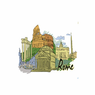 rome graphic travel image png acrylic cut out