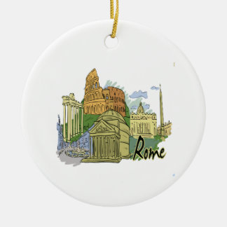 rome graphic travel image.png round ceramic decoration