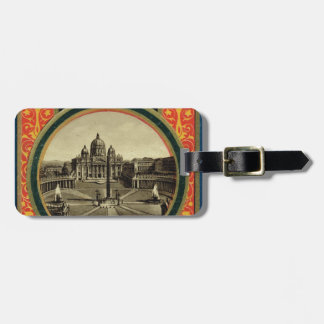 Rome, guide book cover 1900 tag for luggage